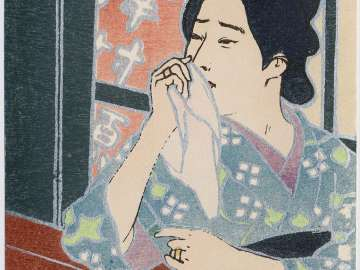 Looking: Geisha from the series Beautiful Women and the Senses (Bijin to kankaku)