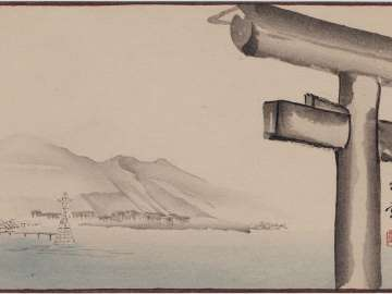 Itsukushima Shrine from the series Sunbikai Cards by Gyokusho (Gyokusho Sunga)