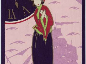Woman Waiting for her Beloved at 2:25 from the series Waiting for her Beloved in the Early Night Hours (Kimimatsu yoi)