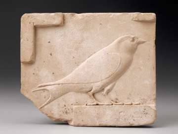 Relief plaque of a swallow
