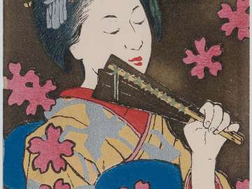 Sleeping: Maiko from the series Beautiful Women and the Senses (Bijin to kankaku)