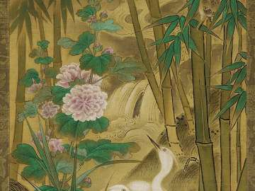 Egrets and Bamboo