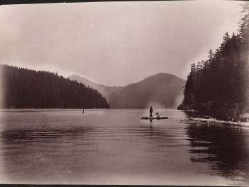 Spirit Lake, north of Mount Hood, 3000 ft. up
