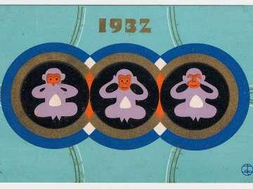 New Year's Card: Three Monkeys: See no Evil, Hear no Evil, Speak no Evil
