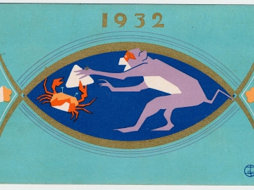 New Year's Card: Monkey and Crab