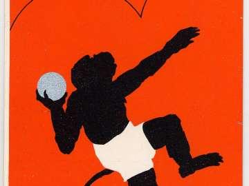 New Year's Card: The Monkey's Shot Put (Osaru no hôgan nage), from the series Monkey Sports for New Year's (Oshôgatsu saru no supôtsu)