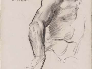 Sketch for Law - Torso and Right Arm - Boston Public Library Murals