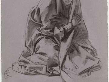 Sketch for the Joyful Mysteries - The Virgin - Boston Public Library Murals