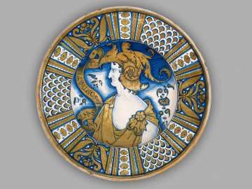 Plate with profile of an emperor
