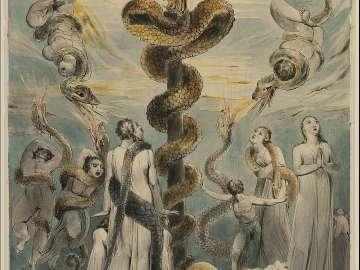 Moses Erecting the Brazen Serpent  (Numbers XXI, 9)