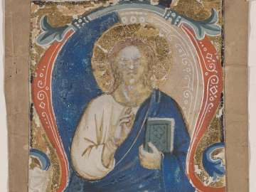 Christ in Majesty (Cutting from a Gradual or Antiphonary)
