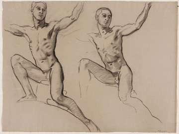 Sketch for Cartouche over Prometheus - Youth - (MFA Rotunda)