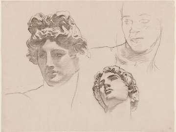 Sketch for Classic and Romantic Art - Apollo's head - (MFA Rotunda)