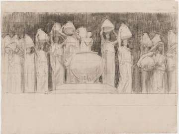 Sketch for the Danaides - Two Studies - MFA Stairway