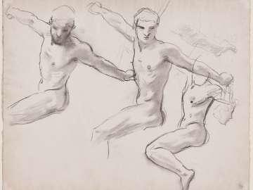 Sketch for Perseus on Pegasus Slaying Medusa (MFA Stairway)