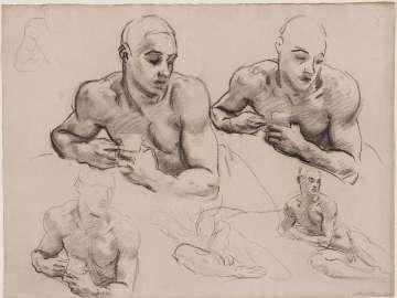 Sketch for Classic and Romantic Art  - Pan - (MFA Rotunda)