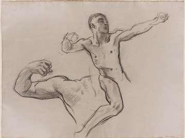 Sketch for Achilles and Chiron - Achilles (MFA Rotunda)