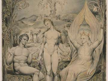 The Archangel Raphael with Adam and Eve (Illustration to Milton's