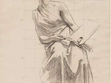 Double-sided Drawing for MFA Rotunda Murals