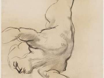 Sketch for the Sphinx and the Chimaera  - Chimaera - (MFA Rotunda)