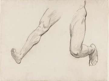 Sketch for Satyr and Maenad - Satyr's Legs- (MFA Rotunda)