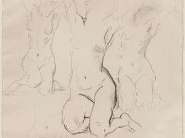 Sketch for Eros and Psyche - Psyche - (MFA Rotunda)