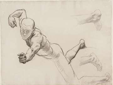Sketch for Aphrodite and Eros - Eros - (MFA Rotunda)