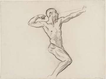 Sketch for Achilles and Chiron - Achilles - (MFA Rotunda)