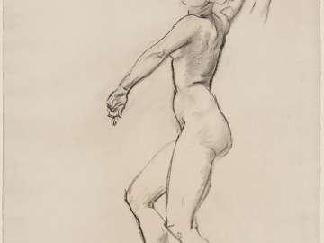 Sketch for Dancing Figures - Dancing Figure - (MFA Rotunda)
