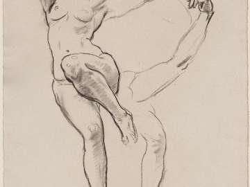 Sketch for Satyr and Maenad - Maenad - (MFA Rotunda)