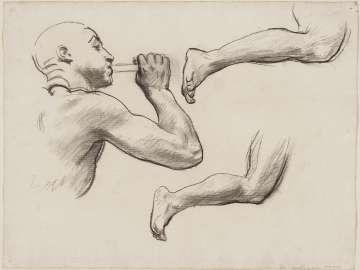 Sketch for Fame - Fame Head and Legs - (MFA Rotunda)