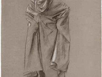 Sketch for Frieze of Prophets - Ezekiel(?) or Jeremiah(?) - Boston Public Library Murals