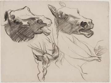 Sketch for Gog and Magog - Horses' Heads - Boston Public Library Murals