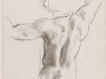 Sketch for Heaven - Torso with Arms Raised - Boston Public Library Murals