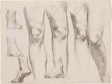 Sketch for the Three Graces - Legs and Feet - (MFA Rotunda)