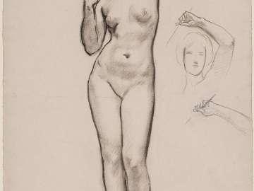 Sketch for Aphrodite and Eros - Aphrodite - (MFA Rotunda)