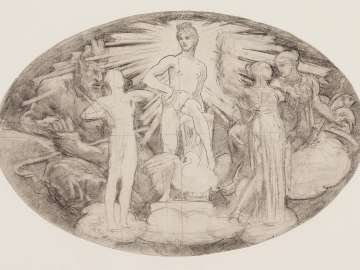 Sketch for Classic and Romantic Art - Study for Whole Composition - (MFA Rotunda)