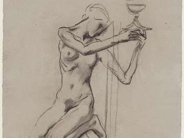 Sketch for the Crucifixion - Eve - Boston Public Library Murals