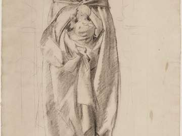 Sketch for Handmaiden of the Lord - Virgin and Child - Boston Public Library Murals