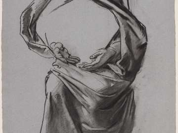 Sketch for Handmaiden of the Lord - The Virgin - Boston Public Library Murals