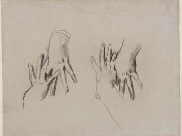 Sketch for Our Lady of Sorrows - Hands of the Virgin - Boston Public Library Murals