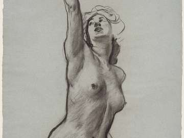 Sketch for the Joyful Mysteries - Eve(?) - Boston Public Library Murals