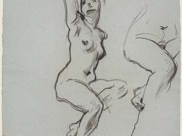 Sketch for the Joyful Mysteries - Eve - Boston Public Library Murals