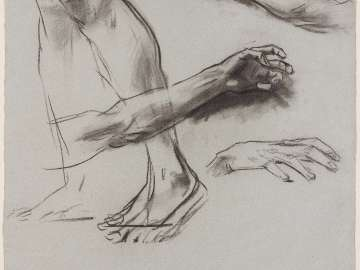 Sketch for the Sorrowful Mysteries - Limb Study for The Public Scourging - Boston Public Library Murals