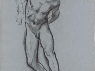 Sketch for the Sorrowful Mysteries - The Scourging - Boston Public Library Murals