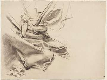 Sketch for the Synagogue - Draped Figure - Boston Public Library Murals