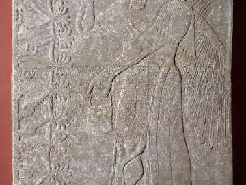Relief of a winged genius