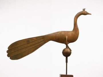 Peacock weather vane