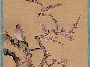 Plum Tree and Birds