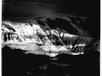 Approaching Mt. Marcus Baker, Alaska
